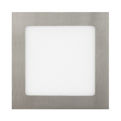 extra plat downlight dalle encastrable carré inox gris 12w-1000 lumens