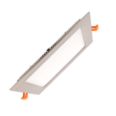 extra plat downlight dalle encastrable carré inox gris 15w-1200 lumens