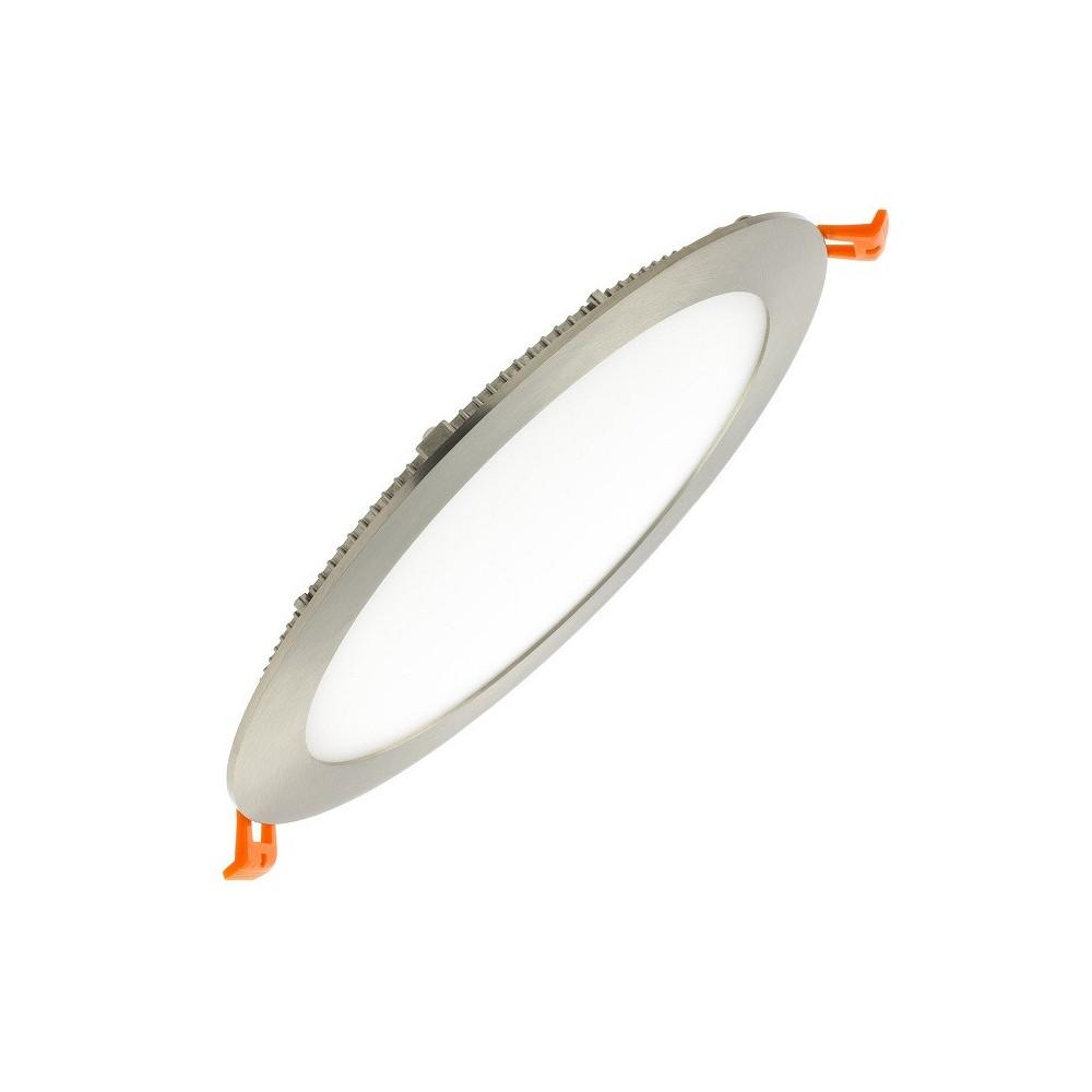 Spot Encastrable led rond inox brossé 15w-1200lm extra plat