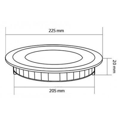 Spot Encastrable led rond inox brossé 100w-1260 lumens extra plat