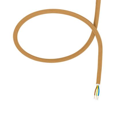 câble cordon tissu corde textile doré au mètre
