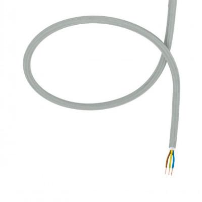 câble cordon tissu corde textile gris au mètre