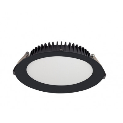 downlight led encastrable rond noir 24w-2520 lumens-4000k-237 mm