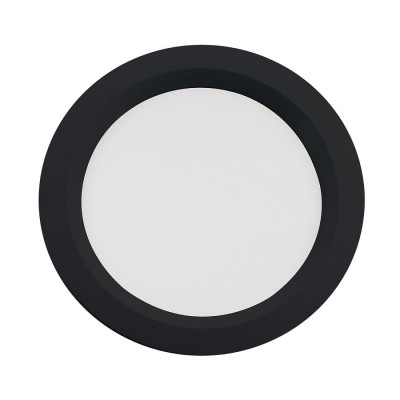 downlight led encastrable rond noir 24w-ugr17-2520 lumens-4000k-237mm