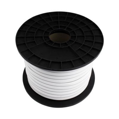 rouleau de 50m bobine neon flexible led 180-220v-blanc chaud 3000k