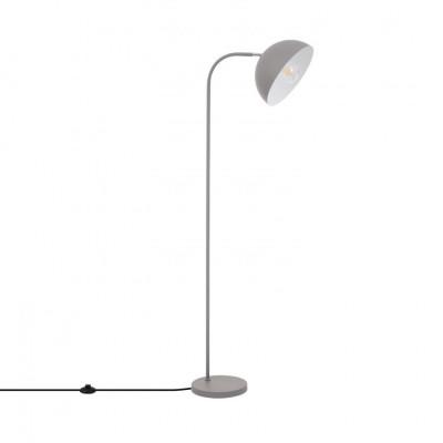 lampadaire 153cm gris culot e27 pied aluminium vintage