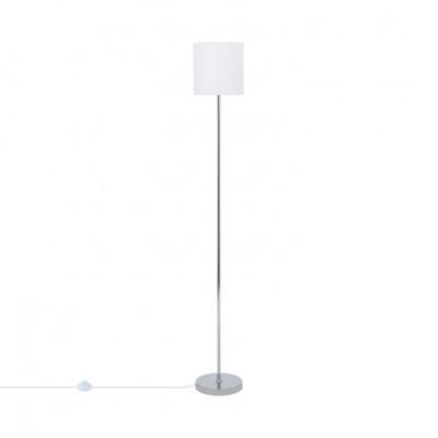 lampadaire-sur-pied-aluminium-abat-jour-blanc-culot-e27