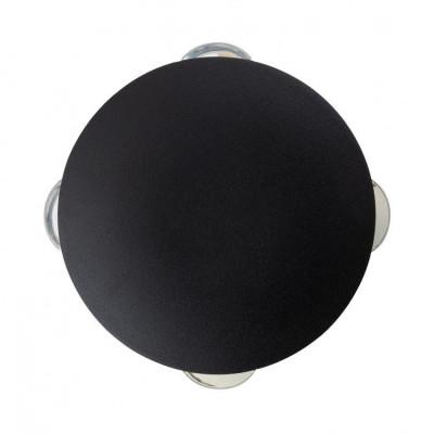 applique murale extérieur noire etanche ronde 4 faisceau led
