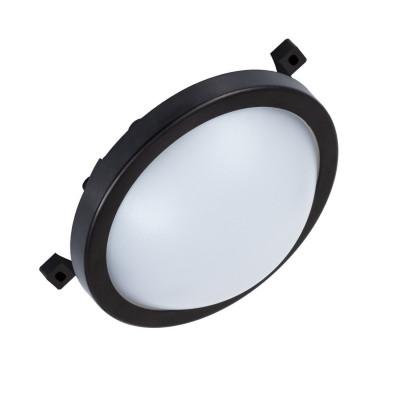applique plafonnier ip54 hublot led 12w exterieur rond noir