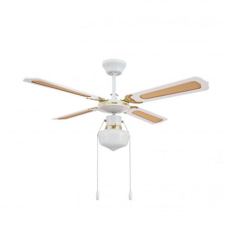 ventilateur de plafond 4 pales blanche-3 vitesses