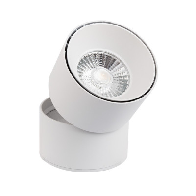 Applique plafonnier 15w led rond blanc orientable saillie