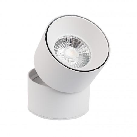 Applique plafonnier 15w led rond blanc orientable saillie