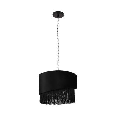 Suspension noire luminaire suspendu noir culot e27