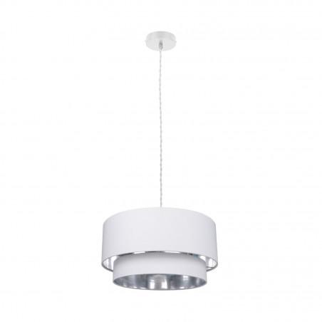 Suspension blanche luminaire suspendu blanc diamètre 50cm  culot e27