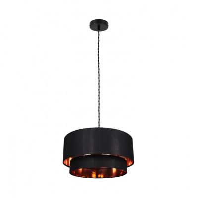Suspension noire luminaire suspendu noir diamètre 50cm  culot e27