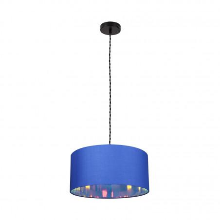 Suspension luminaire suspendu bleu diamètre 45cm  culot e27