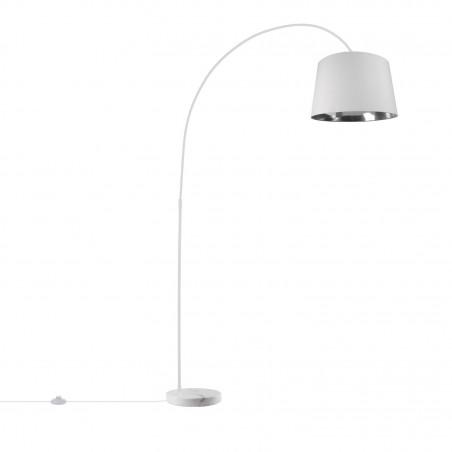 lampadaire interieur luminaire blanc culot e27 type arc