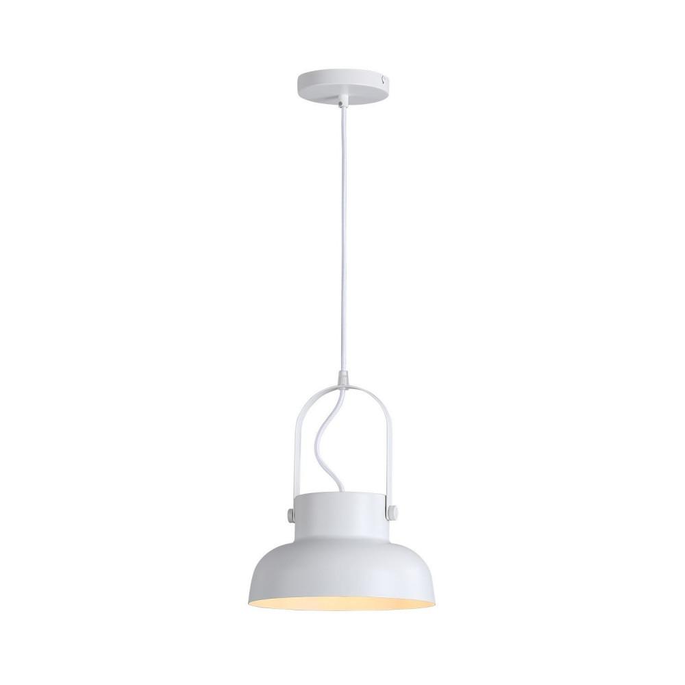 Suspension luminaire suspendu aluminium blanc culot e27