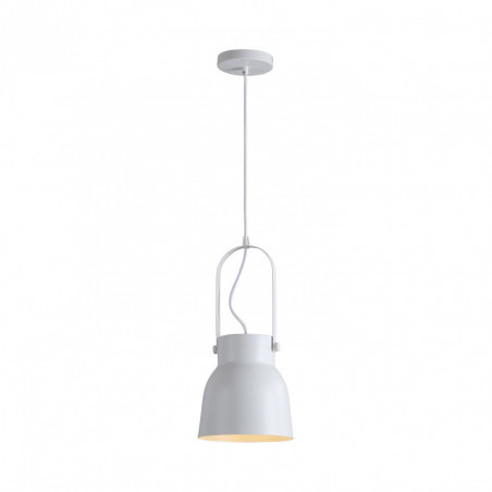 Suspension luminaire suspendu acier blanc culot e27