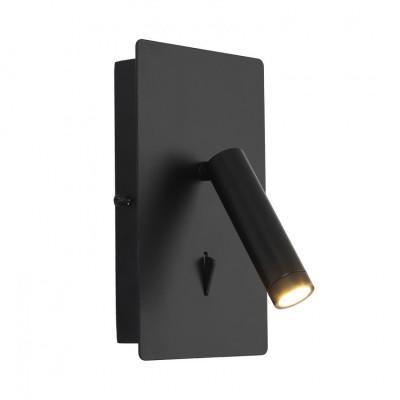 applique-murale-liseuse-led-avec-interrupteur-spot-patere-orientable-noire