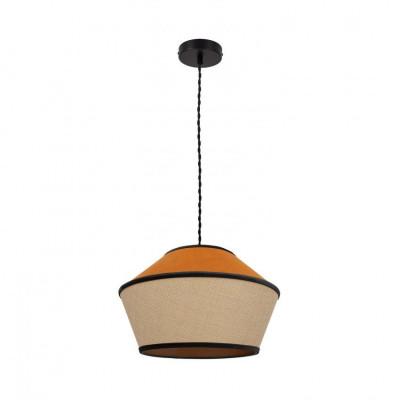 suspension-luminaire-suspendu-culot-e27-abat-jour-orange