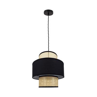 suspension-luminaire-suspendu-culot-e27-abat-jour-rotin-noir