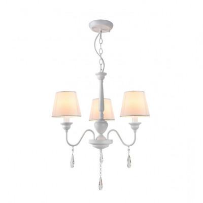 Lustre suspension luminaire suspendu blanc 3 tetes culot e14