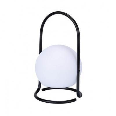 Lampe rechargeable led noire ip44 nomade portable etanche noir