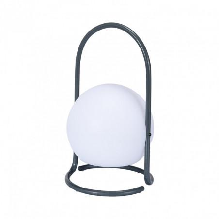 Lampe rechargeable led ip44 grise nomade portable etanche gris