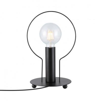 lampe-de-table-noire-pied-metal-culot-e27-anneau-noir