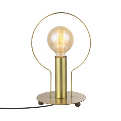 lampe de table dor pied metal culot e27 anneau or
