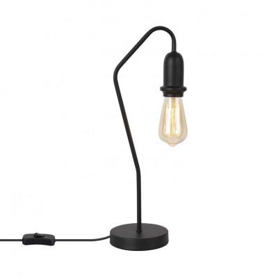 lampe de bureau noire luminaire acier noir douille culot e27
