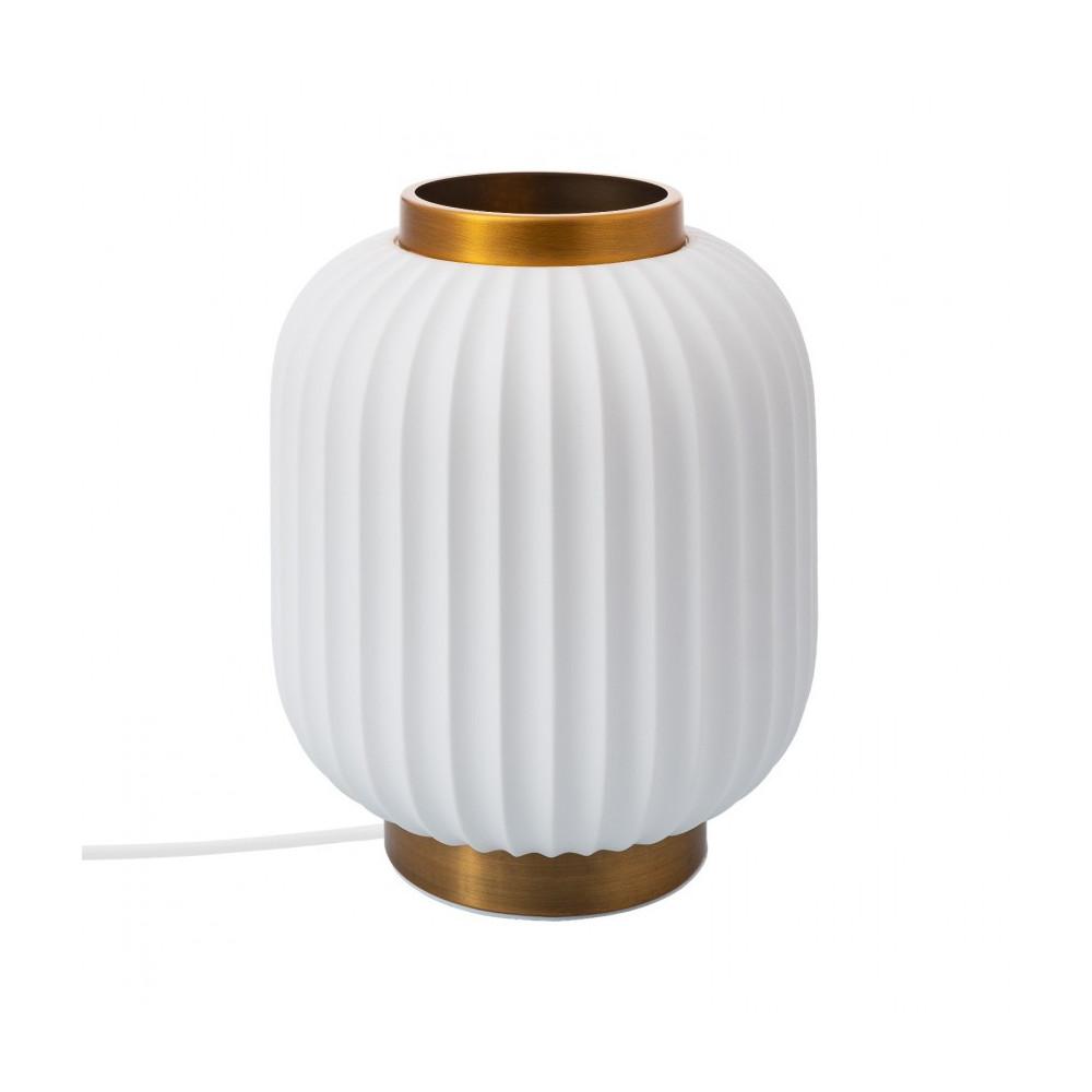 lampe-de-table-ceramique-blanche-culot-e14-socle-bronze