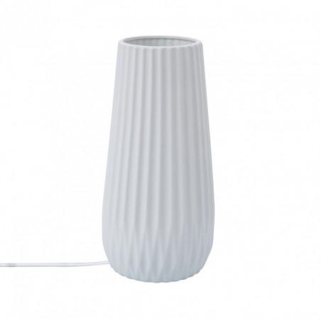 Lampe de table céramique blanche culot e14