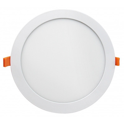 Encastrable 20w led rt2012 ip44 ultra plat recouvrable 240mm blanc-bbc