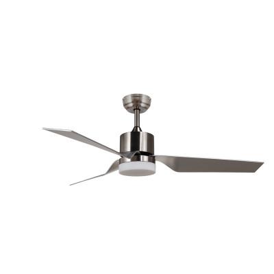 Ventilateur de plafond 3 pales acier-3 vitesses-diametre 132cm-15w led cct