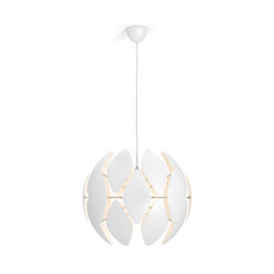 Suspension blanche Philips luminaire suspendu blanc diamètre 58cm culot e27