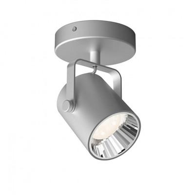 Applique plafonnier Philips clickfix 4.3w led rond gris orientable saillie