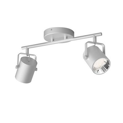 Applique plafonnier 4.3w led double tetes gris orientable saillie