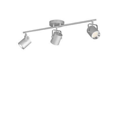 Applique plafonnier 12.9w led triple tetes gris orientable saillie