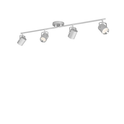 Applique plafonnier 18w led quatre tetes gris orientable saillie