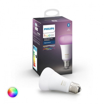 Ampoule LED E27 RGBW PHILIPS Hue Color 9W