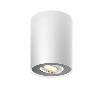 Plafonnier rond blanc Philips hue cct led 5w-350 lumens 230v