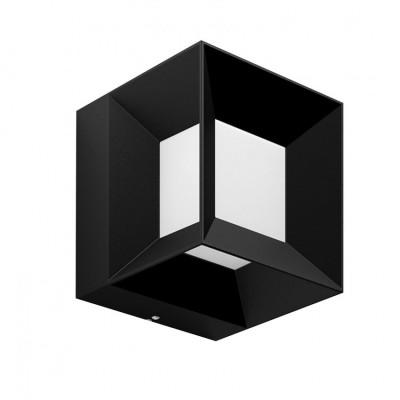 Applique extérieure Philips 8w led 800lm ip44 cube noir