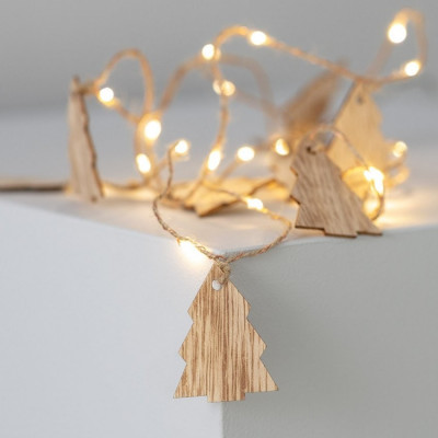 Guirlande a piles 2,2m décoration fêtes sapin table blanc chaud