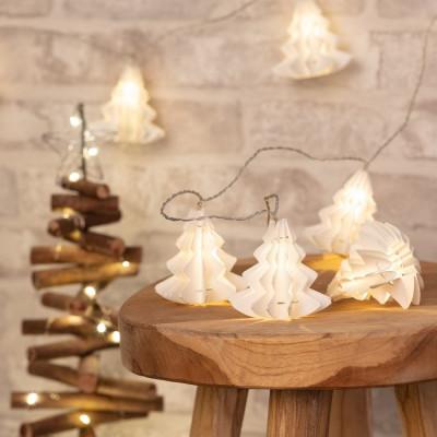 Guirlande led décoration fêtes 2.1 mètres 3000k lampions papier