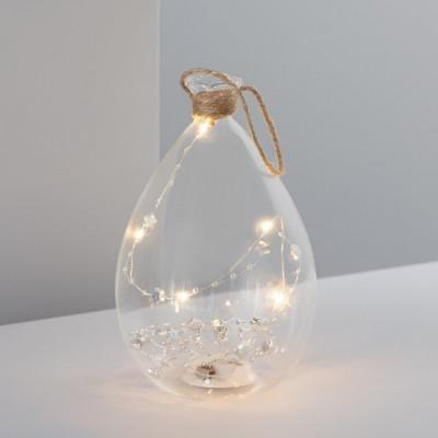 Lampe guirlande a pile bocal verre décoration de fêtes