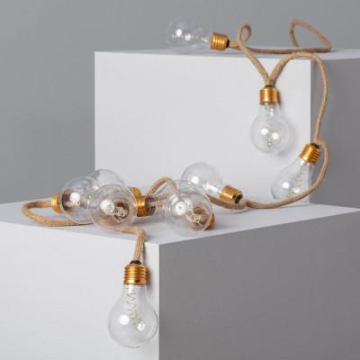 Guirlande 2m a piles ampoules verre décoration de fêtes