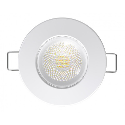 Spot 6w led downlight rt2012 variable ip65 recouvrable rond blanc 80mm blanc-bbc-selectionneur de temperature 3000k-4000k-6000k