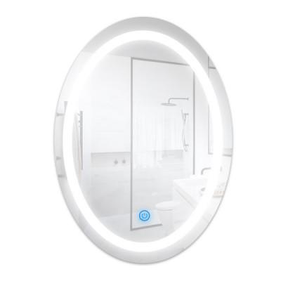 Miroir led 15w cct tactile salle de bain dressing ovale 70cm ip44